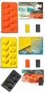 Silicone Ice Cube Trays Fun Shape Jello Mold 3 pcs Set