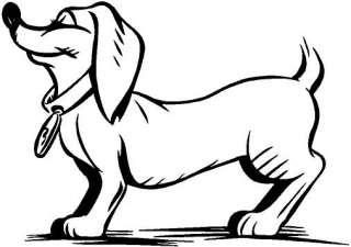 Cartoon Dog Vinyl Decal Car Truck Trailer Sticker 2