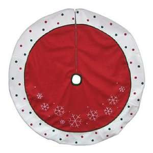 3RCL Polka Dot Tree Skirt 48 (Pack of 4) Patio, Lawn & Garden