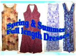Spring & Summer Full Length Dresses ~Various Brands~ Sizes XS XL