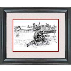 Hockey Art Calgary Flames After Shinny Framed Print