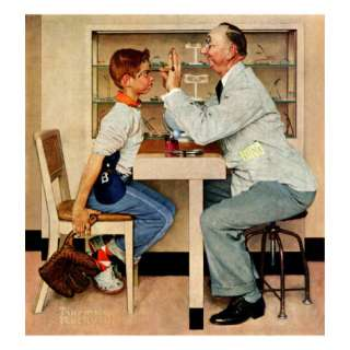 At the Optometrist or Eye Doctor, May 19,1956 Giclee Print by