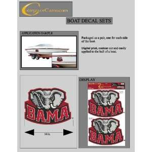 Alabama Crimson Tide Jumbo/Boat Decals