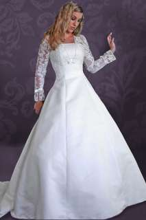 Claire Long Sleeve MODEST Wedding Dress Gown 14 Ivory