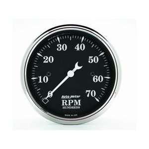Auto Meter 1798 Old Tyme Black 3 1/8 7000 RPM In Dash