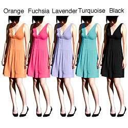 Evanese Womens Short V neck Dress