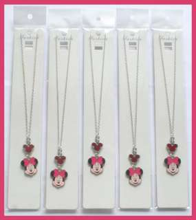 Lot 5pcs Disney Minnie Mouse Charms Girls Necklaces Birthday Party