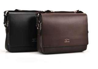 New Mens Kangaroo Kingdom Black Leather Shoulder Messenger Bag