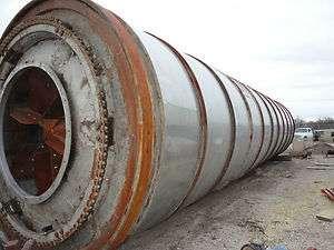 industrial rotary triple pass drum dryer kiln 10.5x42 w trunnions