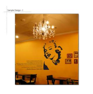 MARILYN MONROE & QUOTE Mural Art Wall Decal Stickers **