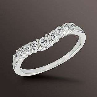 Diamond Contour Wedding Band. 14K White Gold  Jewelry Diamonds Rings