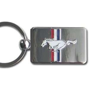 Ford Mustang Premium Chrome Keychain Automotive