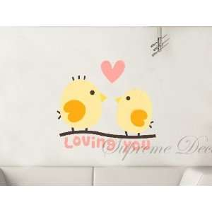 Custom Color   Free Squeegee  Loving You   removable vinyl art wall