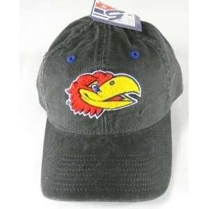 Kansas Jayhawks Gray Adjustable Cap Hat