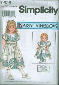 Simplicity Daisy Kingdom Girls Pattern 18 Doll Clothes