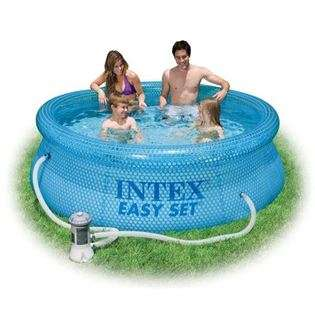 INTEX 8x30 Above Ground Easy Set Swimming Pool with Pump at