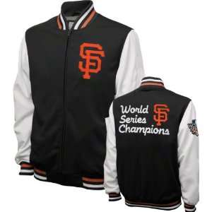 San Francisco Giants Black Commemorative Full Zip Varsity