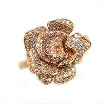65 ct. t.w. Diamond & 14K Rose Gold Flower Ring (H I, I1)