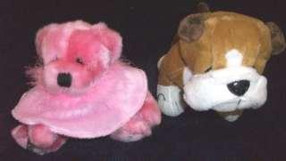 stuffed toys plush animals PINK HERSHEYS teddy bear BROWN DOG GANZ