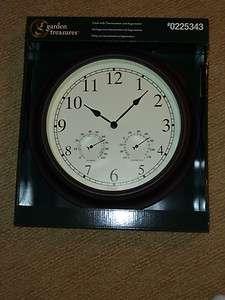 Garden treasures 8 1 2 in h x 20 in w x 7 1 2 in d wicker for Garden treasures pool clock