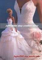 Full Skirt Princess Beaded BRIDAL WEDDING GOWNS/Dress~
