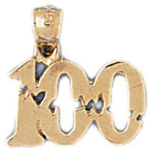 14kt Yellow Gold Golf Breaking 100 Pendant Jewelry