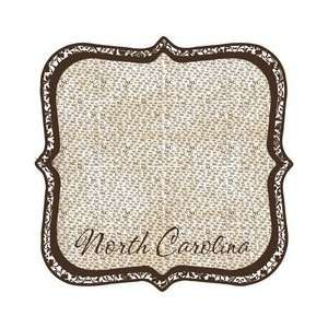 North Carolina   12 x 12 Die Cut Paper   State Shape Arts, Crafts