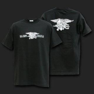 United States US Navy Seals Black T shirt Size XL