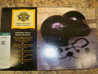 HARLEY DAVIDSON PREMIUM STEREO HELMET HEADSET 77147 98