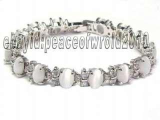 18K Gold Plated Oval Opal Rhinestone Bracelet