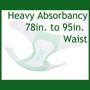 32 Cloth Like Adult Disposable Briefs Diapers Heavy Duty Absorbency