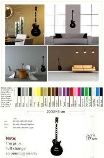GUITAR and strings music instrument wall sticker decal giant stencil