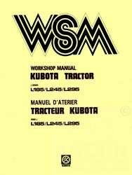 Kubota L185 L245 L295 L 185 L 245 L 295 Service Manual