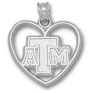Texas A&M Aggies TAMU NCAA Sterling Silver Charm:  Sports