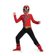 Red Ranger Samurai Classic Halloween Costume   Child Size Large 10 12