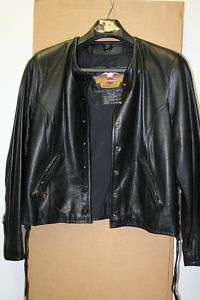 Harley Davidson Black Leather Jacket Size XL