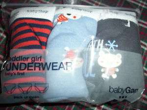 NWT * Gap 3pk toddler boys briefs North Pole Bear 4 5 years