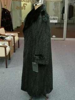 MENs MANs BLACK FUll Length MINK 55 COAT 3XL 4XL 5XL NEW $15,000