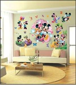 WALL STICKERS, HUGE SET OF STICKERS, MICKEY AND MINNIE MOUSE