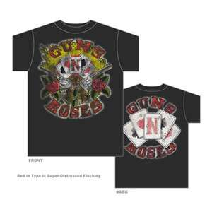 GUNS N ROSES   Cards   Official T SHIRT Sizes S M L XL 2XL Brand New