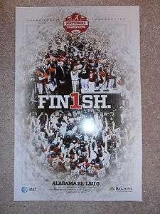 2011 Alabama Football National Championship Poster RARE