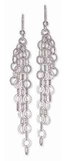 17 Sterling Silver Multistrand Open Link Toggle Necklace