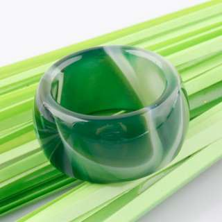 Smoky Green Gemstone Jade Agate Charm Rings Jewelry Findings
