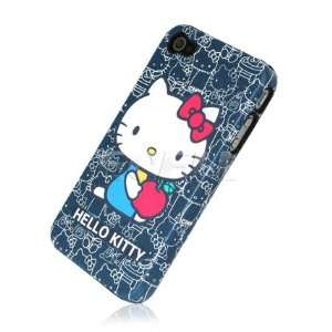 BLUE HELLO KITTY HARD BACK CASE COVER FOR iPHONE 4 4G Electronics
