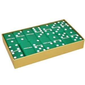 Domino Double 6 Frosted Emerald Green with Spinners in