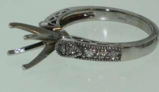 14k white gold diamond semi mount bridal ring set 7