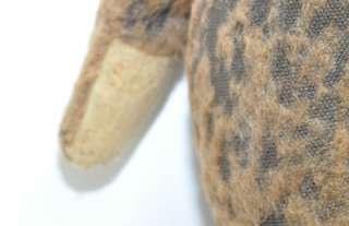 Huge 26 Straw Stuffed Antique Brown Mohair Teddy Bear Hump Back 5 way