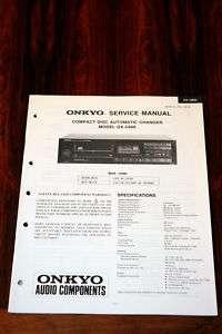 Onkyo DX C600 CD Player Service Manual *Original*