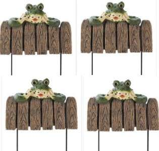 Frog Landscape Border Edging Flower Bed Fence Stakes