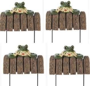 Frog Landscape Border Edging Flower Bed Fence Stakes |